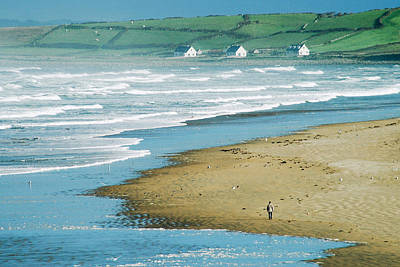 Whalen Photograph - Bundoran Beach Morning Stroll by Josh Whalen