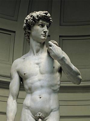 Nude Young Man Photograph - Buonarroti Michelangelo, David, 1501 - by Everett