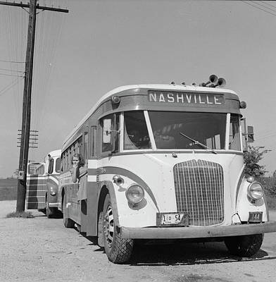 Greyhound Photograph - Bus Travel, 1943 by Granger