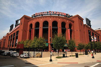Baseball Mural Photograph - Busch Stadium - St. Louis Cardinals by Frank Romeo
