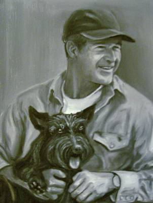 Painting - Bush And Barney by Martha Suhocke