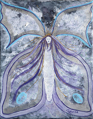 Painting - Butterfly Goddess by Judy M Watts-Rohanna