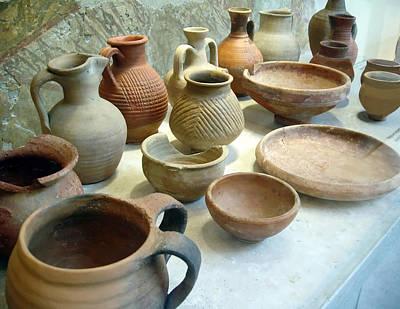 Photograph - Byzantine Pottery by Ellen Henneke