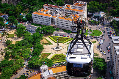 Photograph - Cable Car Over Urca by Celso Diniz