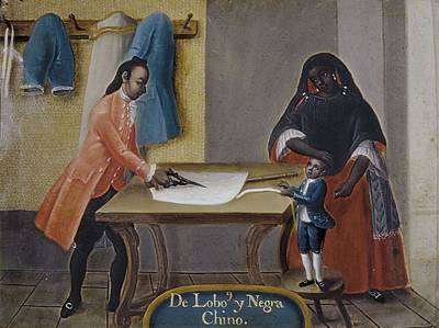 Cabrera, Miguel 1695-1768. Mixed Races Art Print