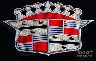 Photograph - Cadillac Emblem  by Lee Dos Santos