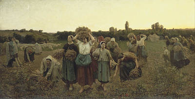 The Gleaners Painting - Calling In The Gleaners by Celestial Images