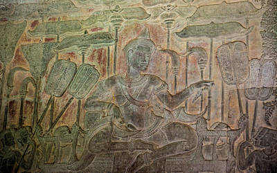 Archaeology Reliefs Photograph - Cambodia, Angkor Wat by Charles O. Cecil