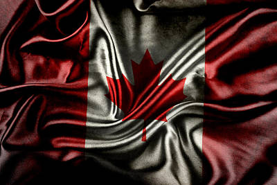 National Symbol Photograph - Canadian Flag  by Les Cunliffe
