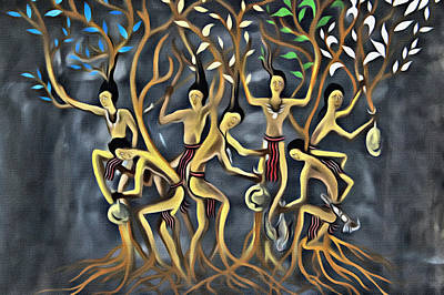 Igorot Painting - Canao by Joel Panida
