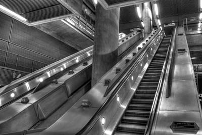 London Tube Photograph - Canary Wharf Station by David Pyatt