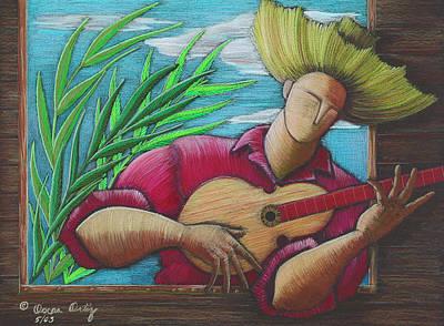 Cuatro Drawing - Cancion Para Mi Tierra by Oscar Ortiz