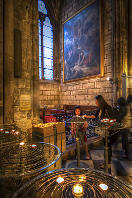 Candles In The Cathedral Print by Tim Stanley