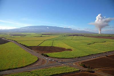 Cane Fire, Sugar Cane Field, Maui Art Print