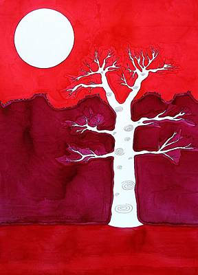 Canyon Tree Original Painting Art Print