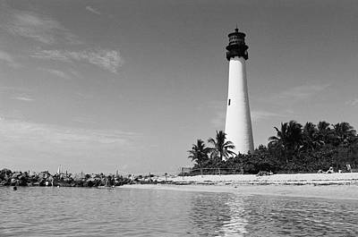 Bill Baggs Photograph - Cape Florida Lighthouse by William Wetmore