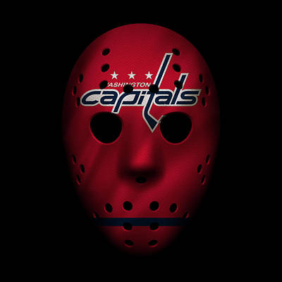 Capitals Jersey Mask Art Print by Joe Hamilton