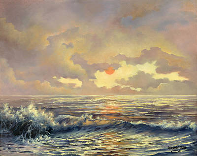 Sundown Painting - Cappuccino Bay by Lynne Wright