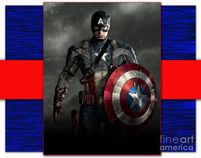 Captain America Art Print by Marvin Blaine