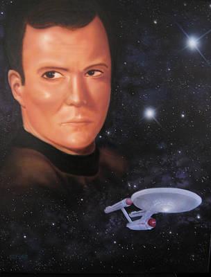 Captain Kirk Art Print by Ethan  Foxx