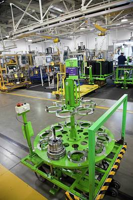 Component Photograph - Car Transmission Assembly Line by Jim West