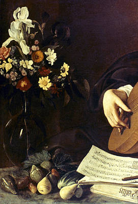Caravaggio Luteplayer Art Print by Granger