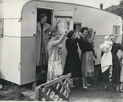 Caravan Site Eviction Force Withdraws Art Print by Retro Images Archive
