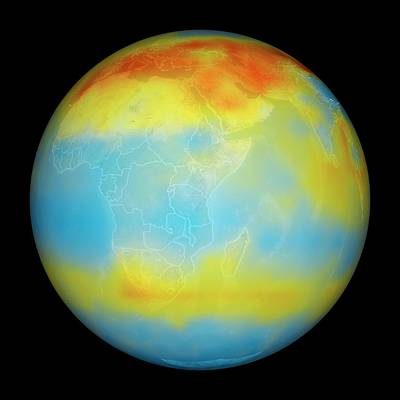 Carbon Dioxide Levels Art Print by Nasa/goddard Space Flight Center/jet Propulsion Laboratory Scientific Visualization Studio