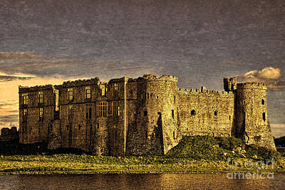 Photograph - Carew Castle Sunset by Steve Purnell