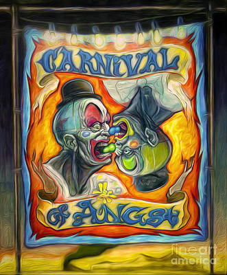 Carnival Of Angst Art Print by Gregory Dyer