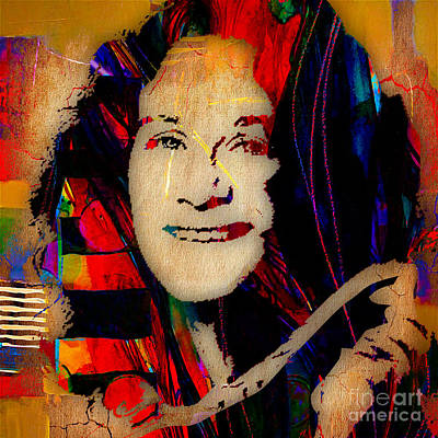 Singer Mixed Media - Carole King Collection by Marvin Blaine