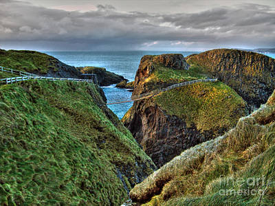 Photograph - Carrick-a-rede Rope Bridge by Nina Ficur Feenan