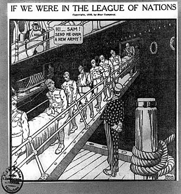 Cartoon League Of Nations Print by Granger