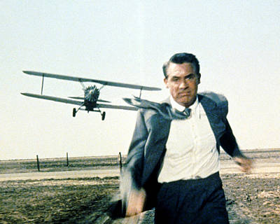 1950 Movies Photograph - Cary Grant In North By Northwest  by Silver Screen