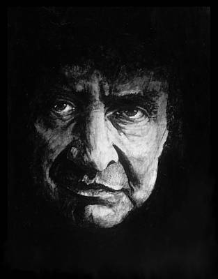 Johnny Cash Painting - Cash In Black by William Walts