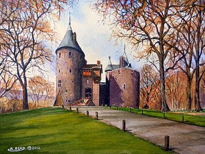 13th Century Painting - Castell Coch  by Andrew Read