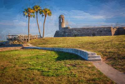 Photograph - Castillo De San Marcos St Augustine Florida Painted  by Rich Franco