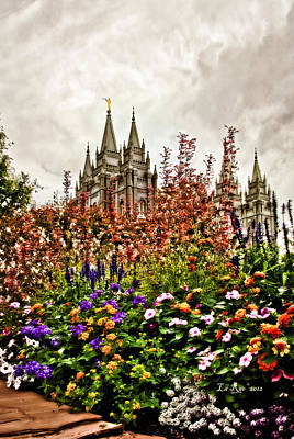 Slc Temple Photograph - Castle In The Sky by La Rae  Roberts