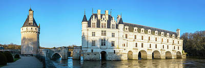 Castle Over A River, Chateau De Art Print