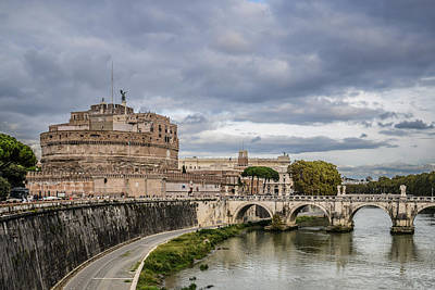 Castle St Angelo In Rome Italy Art Print