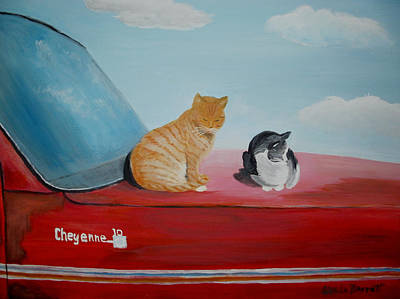 Painting - Cat Nap by Glenda Barrett