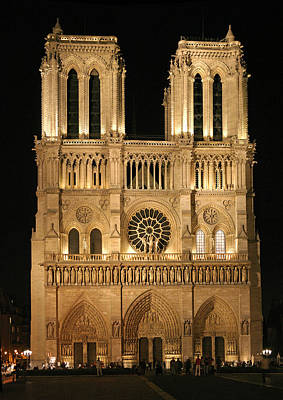 Cathedral Of Notre Dam Art Print by Gary Lobdell