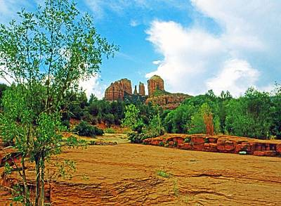 Photograph - Cathedral Rock by Gary Wonning
