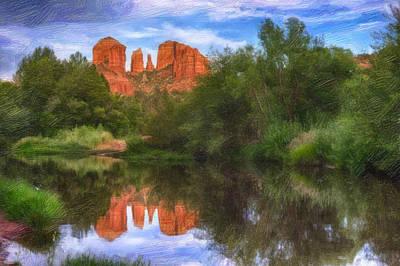 Robert Jensen Photograph - Cathedral Rock Reflection by Robert Jensen