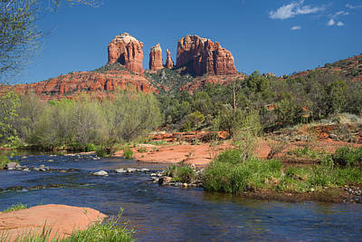 Cathedral Rock Viewed From Red Rock Crossing Art Print