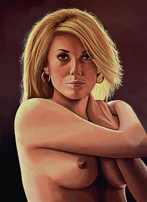 Roman Painting - Catherine Deneuve Painting by Paul Meijering