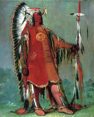 Pictograph Painting - Catlin Mandan Chief, 1832 by Granger