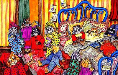 Cats Pajamas Art Print by Sherry Dole