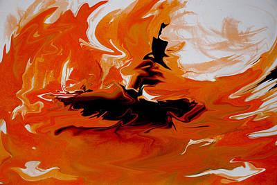 Caught In The Storm Art Print by Indira Mukherji