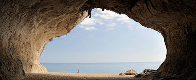Cala Photograph - Cave On The Cala Luna Beach, Cala by Panoramic Images
